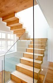 Contemporary Stair Rails And Banisters Glass Stair Railing Staircase Contemporary With Floating Staircase