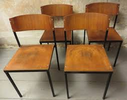 industrial plywood stacking chairs from mauser set of 4 for sale