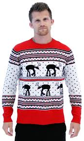 sweater wars wars at at reindeer sweater