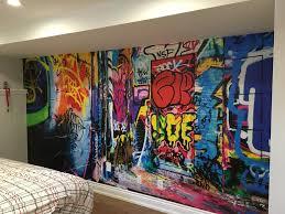 graffiti chambre murale graffiti sous sol chambre d enfant decomurale inc