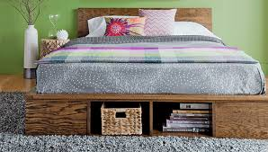 King Size Platform Bed Frame With Storage Plans by Free Build It Yourself Bed Plans