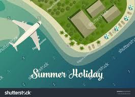 tropical island beach paradise isle top stock vector 676225693