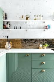 cute beige kattle white painted shelves for kitchen sccessories