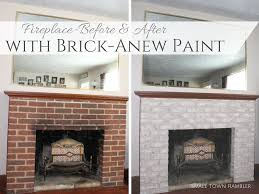 fireplace makeover with brick anew paint