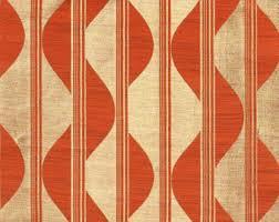 Geometric Orange Curtains Custom Curtains Etsy