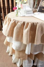 ruffled burlap table skirt rustic elegant and girly all at the