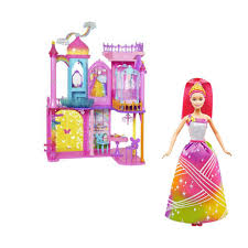 Barbie Dream Furniture Collection by Barbie Dreamtopia Rainbow Cove House And Doll Set Great For