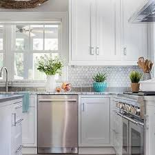 gray subway kitchen border tiles design ideas