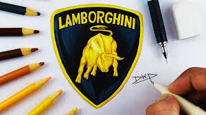logo lamborghini how to draw the lamborghini logo symbol step by step easy for kids