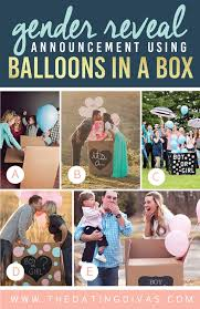 balloons in a box gender reveal 100 gender reveal ideas