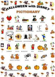 halloween pictionary with disney characters pictionary