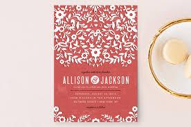 Red Wedding Invitations 16 Ravishing Red Wedding Invitations Indie Wedding Guide