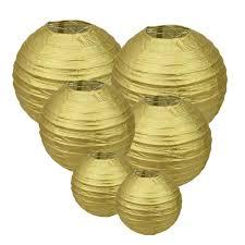 manis gold round paper lanterns 12inch 10inch 8inch size for