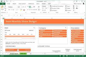 Microsoft Excel Report Templates Monthly Home Budget Template For Microsoft Excel 2013