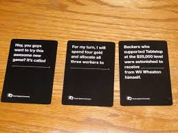 tabletop pack cards against humanity database