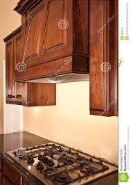 modern kitchen hood modern kitchen cabinets range hood royalty free stock photo