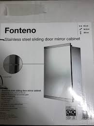 new boxed fonteno stainless steel bathroom cabinet with sliding