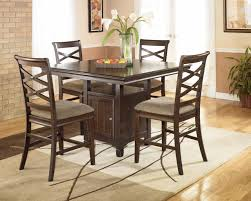 Ashley Dining Room Chairs Dallas Ranch Square Pedestal Large Dining Table Chair Set Large
