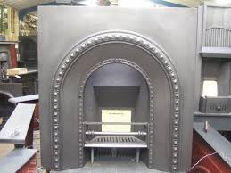 050ai original victorian cast iron arched insert old fireplaces