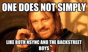 Backstreet Boys Meme - n sync vs bsb the ultimate showdown genius