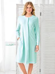 robe de chambre en hahn la robe de chambre en éponge boutonnée menthe
