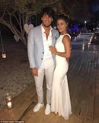 wedding dress lewis towie s lewis showcases endless daily mail online