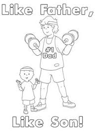 father son fun car wash printable caillou coloring sheet