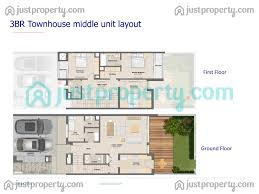 mudon arabella townhouses floor plans justproperty com