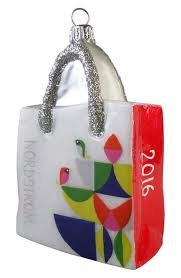 nordstrom at home bird glass shopping bag ornament
