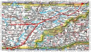 Virginia Mountains Map by Historic Roads Paths Trails West Virginia Tennessee Kentucky