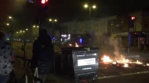 rashan charles protest riot police called to dalston as fireworks