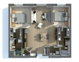 Interior Floor Plans General Masculine Two Bedroom Interior 2 Bedroom Apartment