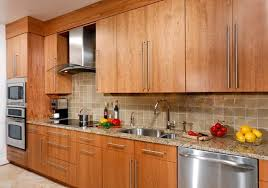 asian kitchen cabinets contemporary cherry flat panel kitchen