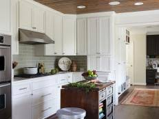 How To Distress White Kitchen Cabinets Distressed And Antiqued Kitchen Cabinets Hgtv