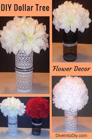 Dollar Cylinder Vases Create This Gorgeous Diy Flower Decor With One Stop To The Dollar
