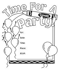 birthday party invitations crayola ca