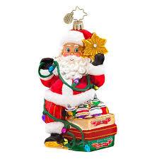 christopher radko ornaments 2015 radko shiny brite santa ornament