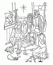 christian christmas coloring pages kids coloring