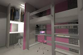 chambre fille avec lit mezzanine decoration chambre fille avec lit mezzanine visuel 3