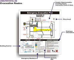 evacuation plan custom evacuation plan signage placards