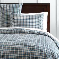 modern boys leisure black and grey plaid bedding sets manly duvet