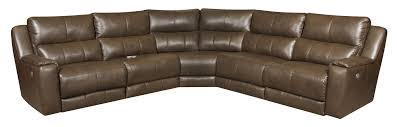 Southern Sofa Beds Reclining Sectional Sofa With 5 Seats And Power Headrests By