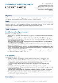 etl developer resume business intelligence analyst resume sles qwikresume