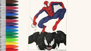 spiderman riding venom back coloring pages sailany coloring kids