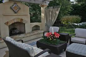 outdoor stucco fireplaces with pergolas ideas creative