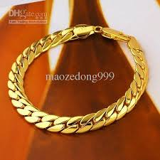 jewelry man gold bracelet images 2018 men 39 s jewelry 18k real yellow gold filled bracelet cuban link jpg