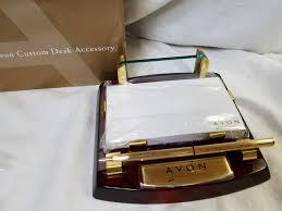Custom Desk Accessories Avon Nib Custom Desk Accessory Pen Paper Business Card Holder