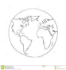 Map Of The World Black And White by Sketch Globe World Map Black Vector Illustration Stock Vector
