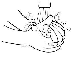 hand clipart coloring page pencil and in color hand clipart