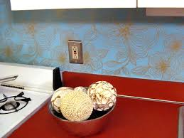 Kitchen Backsplash Wallpaper Vinyl Wallpaper Kitchen Backsplash Great Home Decor Smart